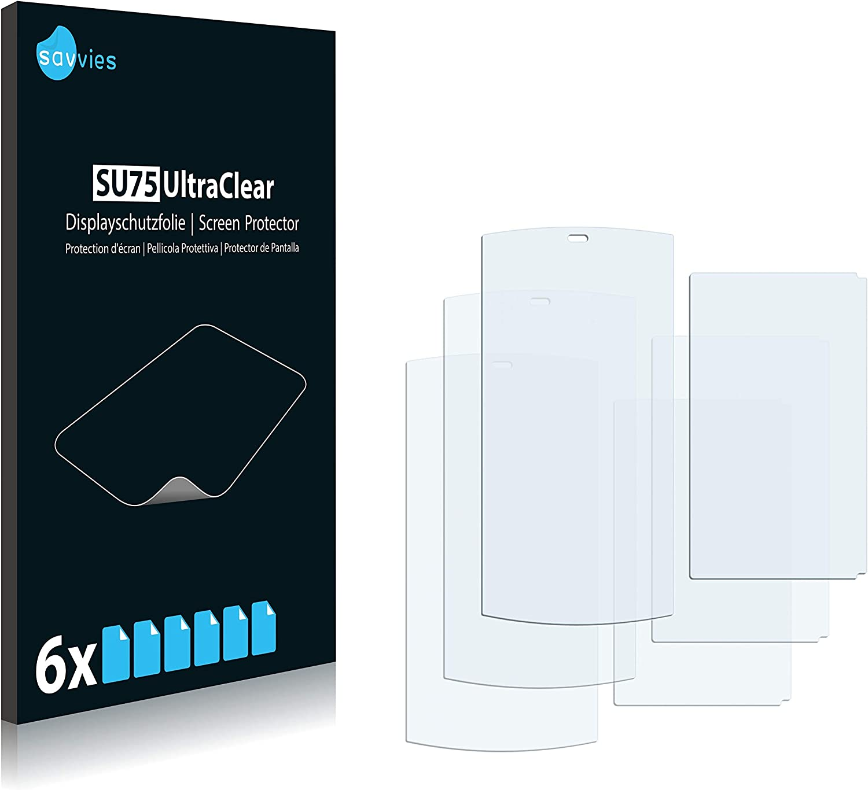 savvies Protector Pantalla Compatible con Sanyo SCP6760 Incognito (6 Unidades) Pelicula Ultra Transparente