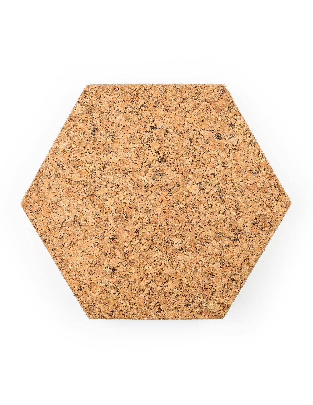 Cork Hexagon Memo Boards Textured 300 mm