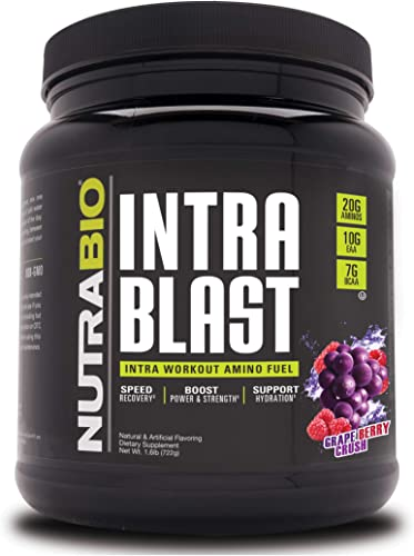 NutraBio Intra Blast – 30 Servings Grape Berry Crush