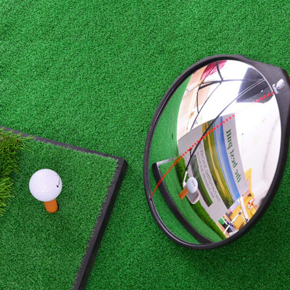 T-best Adjustable Angle Golf Mirror,Universal Golf Learning Full Swing Putting Convex Mirror 360-Degrees Mirror for Full Swing and Putting Enthusiasts