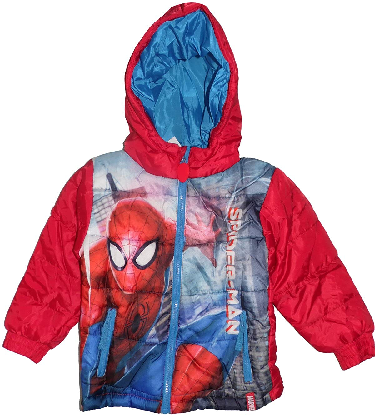 Marvel Avengers Spider Man Boys Padded Winter Jacket