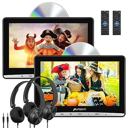 AV-IN/ リージョンフリー レジューム機能 dvdプレーヤー 車載 CPRM対応 USB/ 10.1インチ SD/ AUX AV-OUT ヘッドレストモニター dvd PUMPKIN スロットイン式 18ヶ月保障