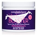 Completely Bare Bikini Bump Blaster Pads- All Natural Antioxidant Witch Hazel & Green Tea Prevent Ingrown Hairs and bumps, Ge