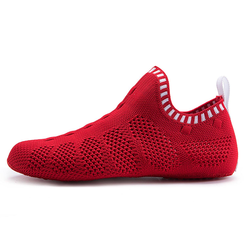 ONEMIX Men's Women's Sneakers Lightweight Breathable Outdoor Walking Shoes Sock-Like Sneakers B0783QB6YX Women 8(M)US/Men 6.5(M)US 39EU|C-white/Red