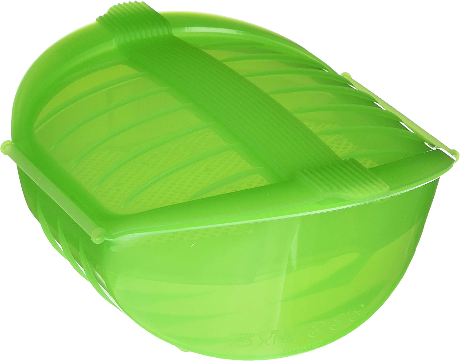Lekue 1-2 Person Deep Steam Case with Tray, Green