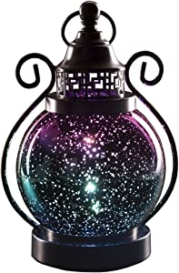 Valery Madelyn Decorative Candle Lanterns, Mercury Glass Sphere Light, Timer Function, LED Tabletop Lamps, Battery Operated Hanging Lantern for Indoor and Outdoor