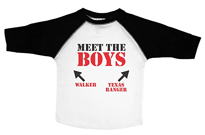 628adfa6 Amazon.com: Baffle Walker Texas Ranger Funny Toddler Shirt/Meet The ...