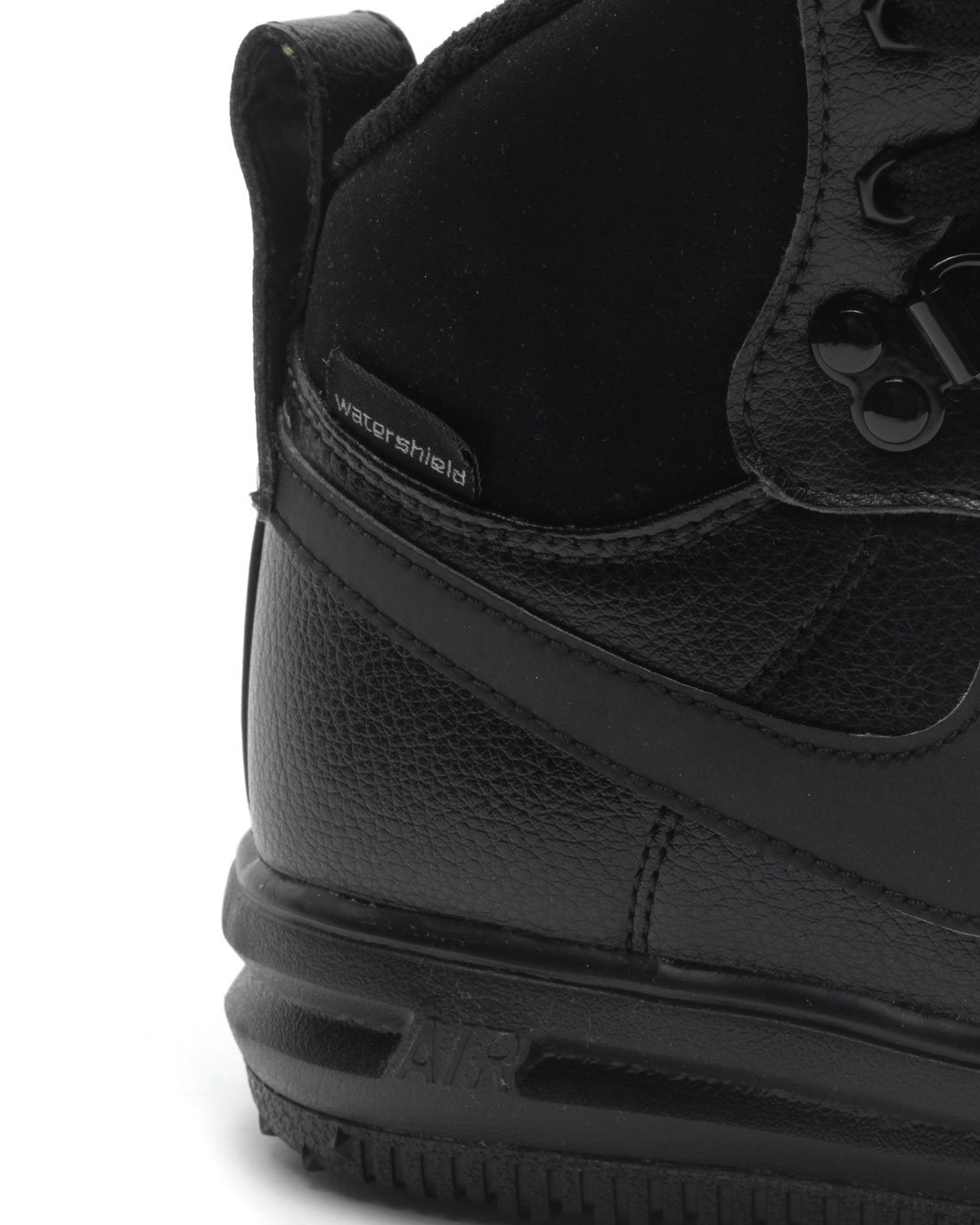Nike Lunar Force 1 Sneakerboot (GS) Black/Black-Metallic Silver (4.5Y) by Nike (Image #5)