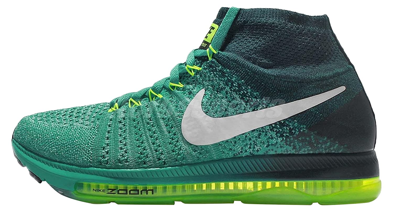 Nike Women's Zoom All Out Flyknit Running Shoes B005V19RHU 9.5 B(M) US Clear Jade/White/Midnight Turquoise