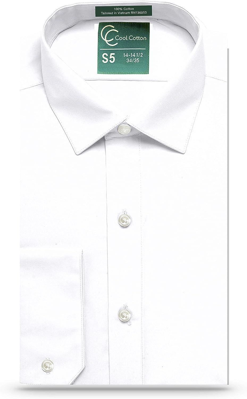 Cool Cotton de los hombres Regular Fit Camisa de vestir la camisa del smoking 100% algodón, Corre Collar: Amazon.es: Ropa y accesorios