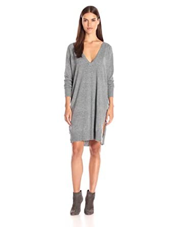 Noisy May Women's Mena Long-Sleeve Double Deep-V Knit Dress at ...