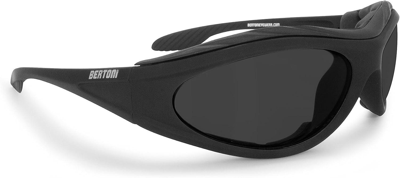 Bertoni Motorradbrille Beschlagfrei Windschutz Matt Schwarz Af12c Bikerbrillen Auto