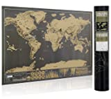 "16.7"" x 11.8"" Scratch Off World Map Travel Map"