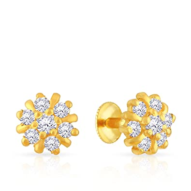 ee513ebad Buy Malabar Gold and Diamonds 22k (916) Yellow Gold Stud Earrings ...