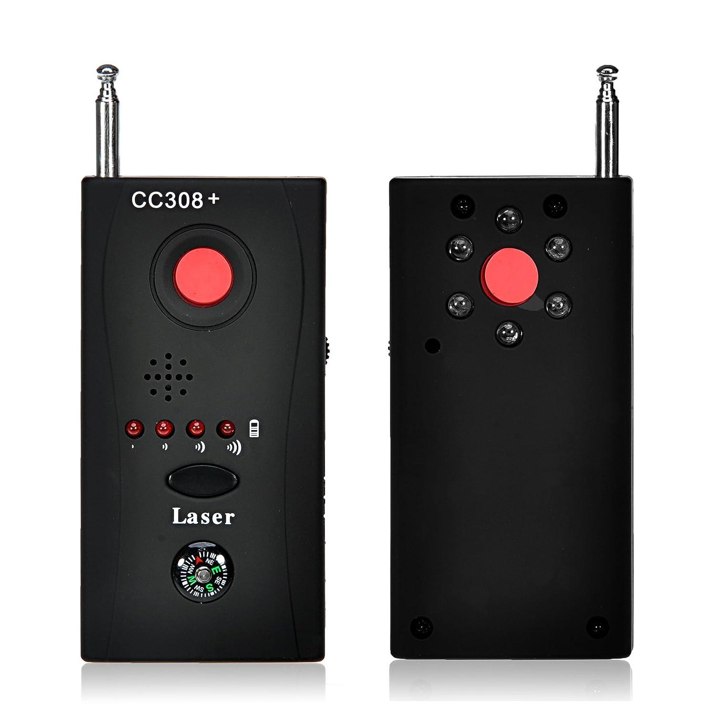 GIZGA® CC308 + frecuencia inalámbrica anti-espía señal RF Bug Detector Oculta cámara GSM dispositivo buscador de lente de tóner láser con detección ...