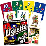 European Classic Card Games Set -- Baraja Espanola Cards and Ligretto Set