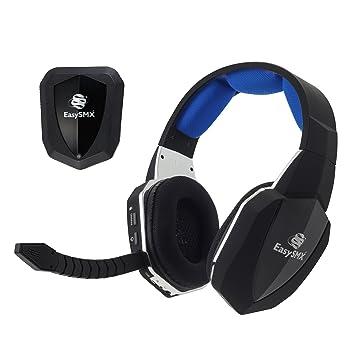 EasySMX [Virtual 7.1 Sonido] Cascos Inalámbricos, 2.4GHz Gaming Auriculares de Diadema para