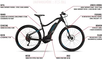 Bicicleta eléctrica Haibike Sduro HardSeven 1.0 E de 27,5 pulgadas ...