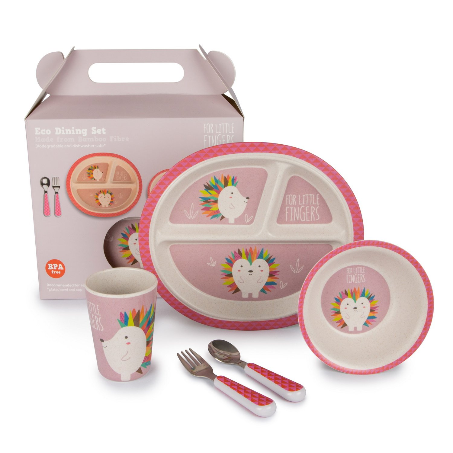 For Little Fingers Eco Children's Dinner Set (Elephant) NEST
