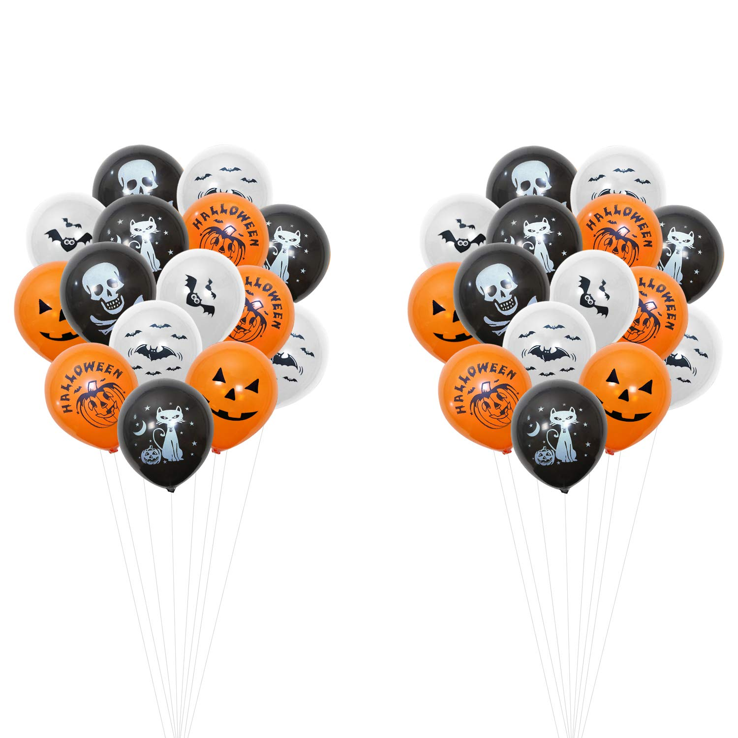 40 Pcs Decorations Happiness maker Halloween Balloons Banner Kit Include Halloween Banner//Latex Balloons//Paper Garlands//Star, Pumpkin/&Bat Inflatable Balloons Happy Halloween Party Decoration