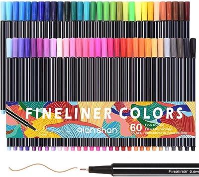 Juego de 25 puntas de fieltro Escuela de Dibujo para colorear con punta de fibra de Pluma Pintura No Tóxica
