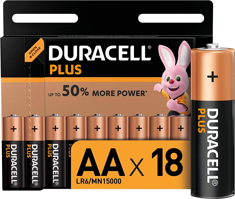 Duracell Plus Aa Mignon Alkaline Batterien Lr6 18er Elektronik