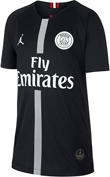 Amazon Com Nike Paris Saint Germain Air Jordan Kids Third Jersey 2018 2019 Black Youth Medium Clothing