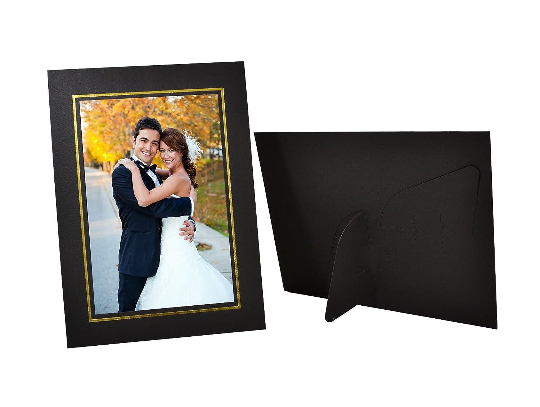 Amazon.com - Golden State Art, Pack of 25, Black Cardboard Photo ...