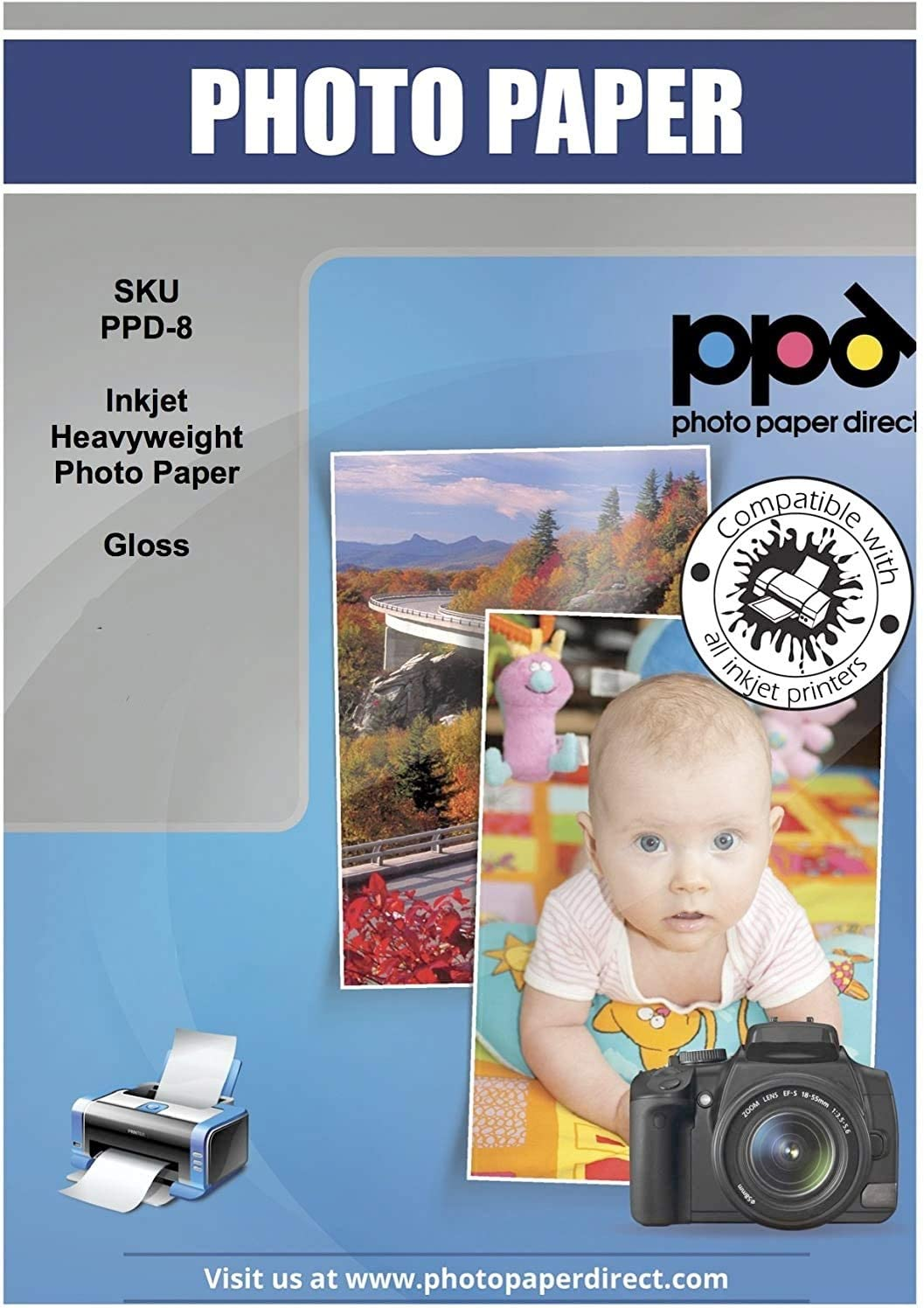 Carta fotografica professionale lucida per stampanti