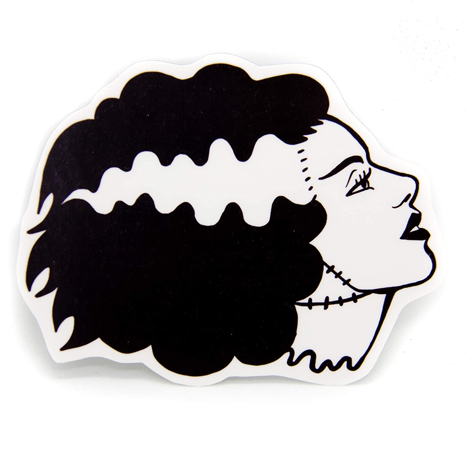 Ectogasm Bride of Frankenstein Waterproof Vinyl Sticker - Goth Horror Movie Decal