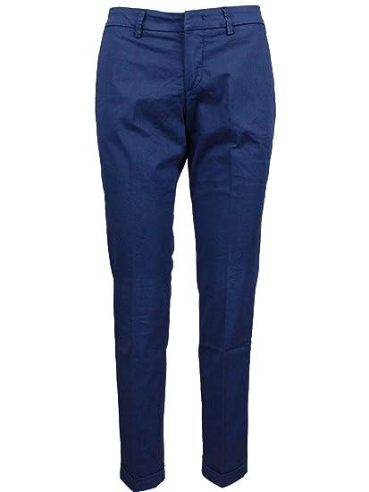 buy online 46d27 2baac Fay Pantaloni Donna NTW8038528TGUPU218 Cotone Blu: Amazon.it ...