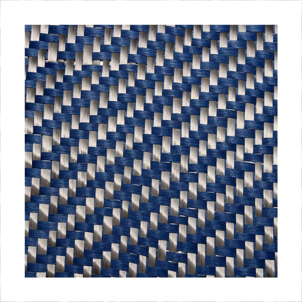 SOFIALXC 3k Carbon Fiber Fabrics Cloth Wrap Twill Weave 500mm Wide and 1000mm Long for Cars, Motorcycle Rc (Blue Black) by SOFIALXC