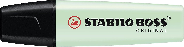 Marcador STABILO BOSS Original Pastel - Caja con 10 unidades - Color pizca de menta: Amazon.es: Oficina y papelería