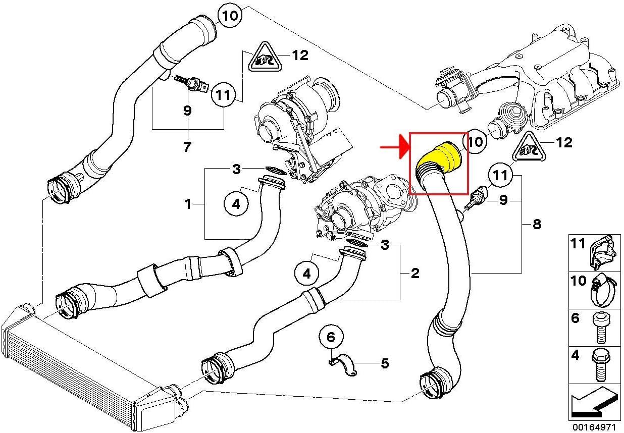 Tubo intercooler turbo 11617792631