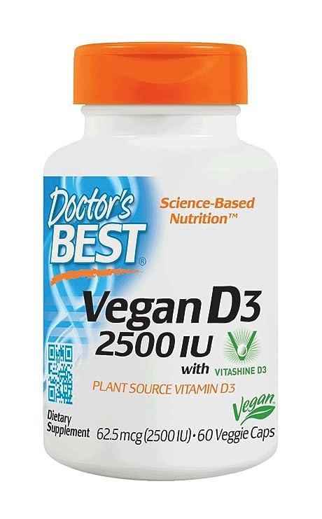 Mejor vegano D3, 2500 UI, 60 Caps Veggie - de mejor doctor