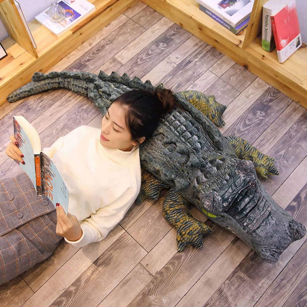 Size : XL-120cm Crocodile Symkeny Crocodile Peluche Peluche Grand Jumbo Crocodile Animaux en Peluche g/éant Enfants Coussin Oreiller Gris Super Soft poup/ées for Enfants Gar/çons Filles Cadeaux