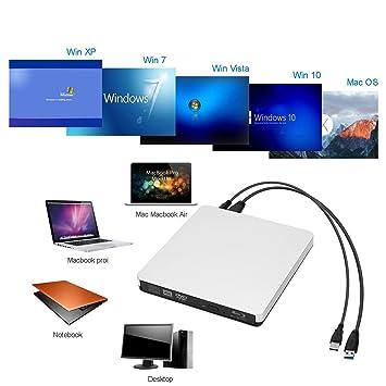 Grabador de CD/DVD Externo BLU Ray USB 3.0, Grabador de CD/DVD