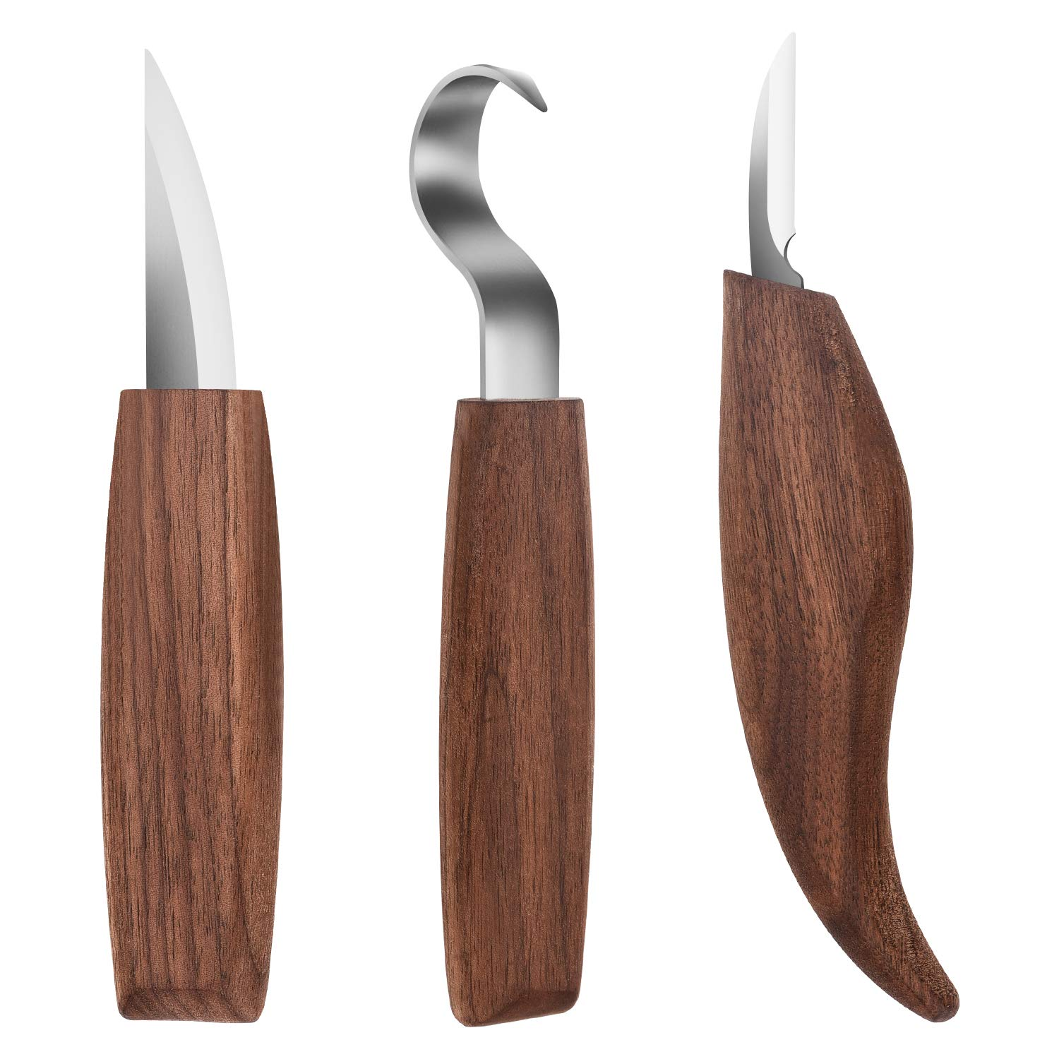 FUNTECK Wood Carving 6-Tool Set for Wood Spoon Kuksa Cup and Bowl Carving