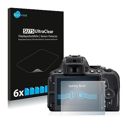 savvies Protector Pantalla Compatible con Nikon D5500 (6 Unidades ...