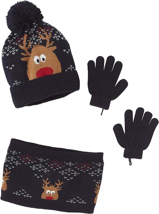 Vertbaudet Ensemble gar/çon bonnet gants Marine 2//3A snood
