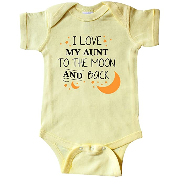 6186e78b1 inktastic - I Love My Aunt to The Infant Creeper Newborn Banana Yellow 29621