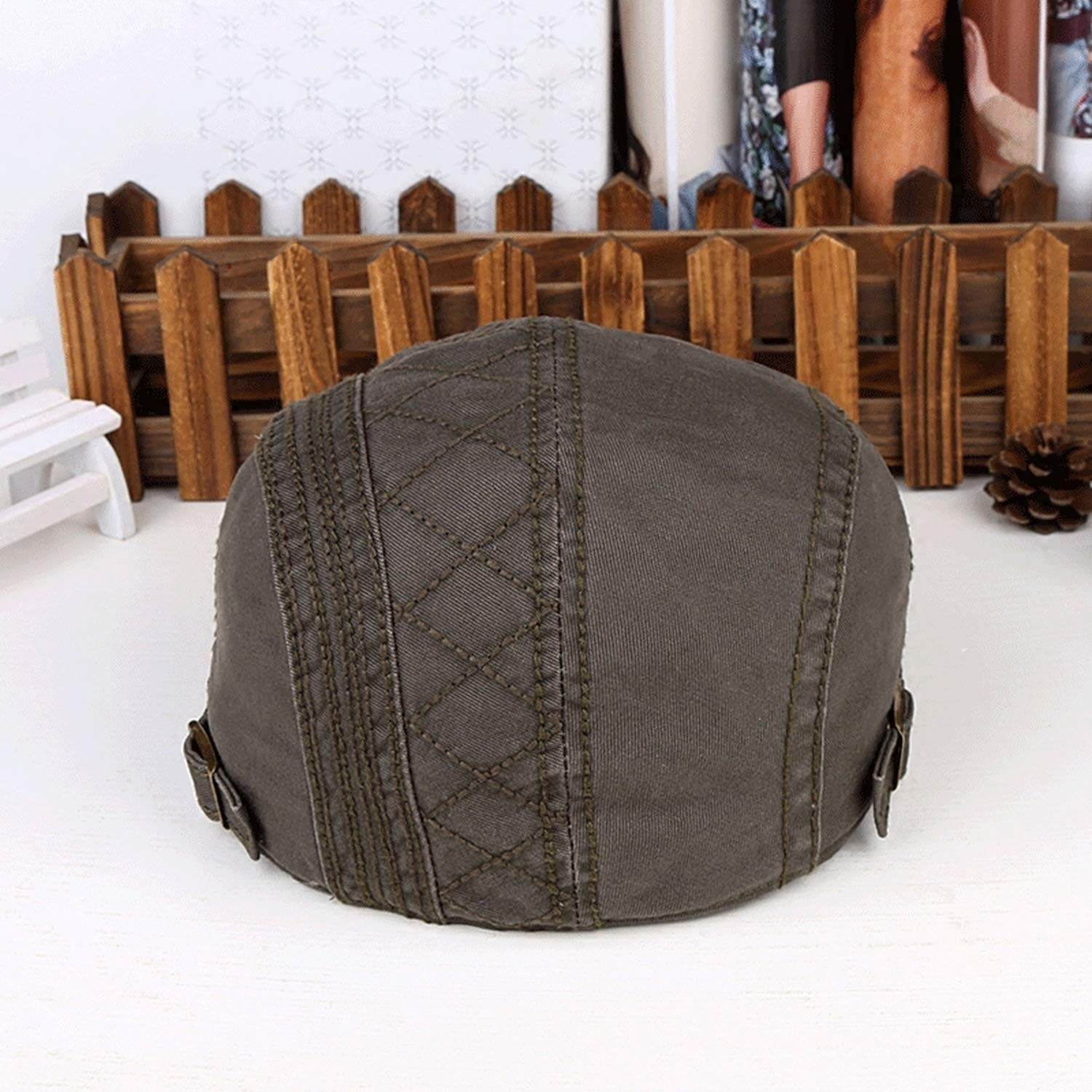Male Spring Summer Outdoors Pure Cotton Peaked Cap Men Casual Flat Beret Hats Women Solid Newsboy Caps