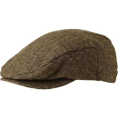 Amazon.com  Brixton Hooligan Snap Cap Brown Khaki Herringbone 762f4d9d671b
