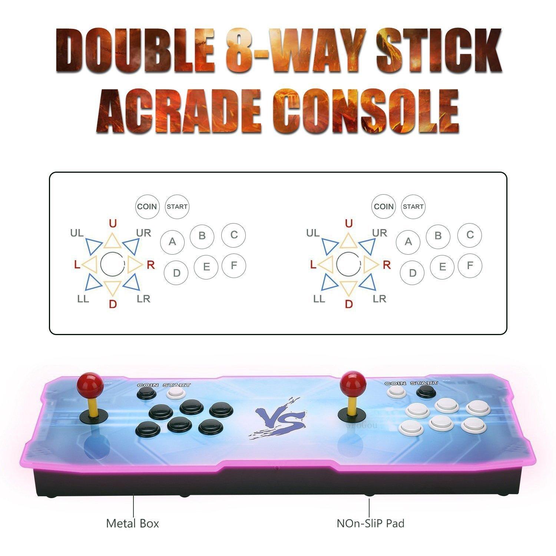J-Deal [1500 HD Arcade Games Arcade Video Game Console 1500 Retro Games Pandora's Box 9 Arcade Machine Double Arcade Joystick Built-in Speaker 1280x720 Full HD Mini Arcade by J-Deal (Image #2)