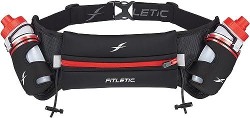 Fitletic Hydra 12 V2 Hydration Belt Unique Zero Bounce Design for Running, Triathlon, Ironman, Marathon, 10K, 5K, Trail Range of Sizes and Colors