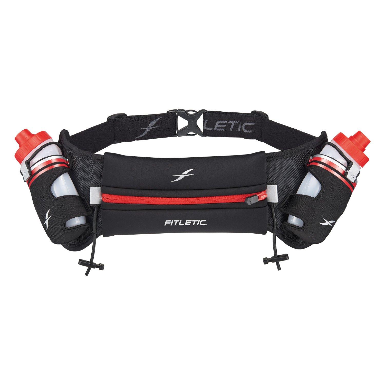 Fitletic Water Bottle Belt S/M Belt Black & Red