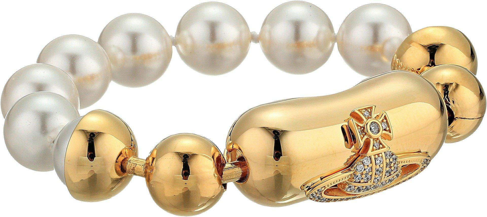 Vivienne Westwood Women's Olga Bracelet Pearl/White Cubic One Size