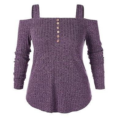 Xmiral Camisa Sin Hombros Mujeres Talla Grande Blusa Sexy ...