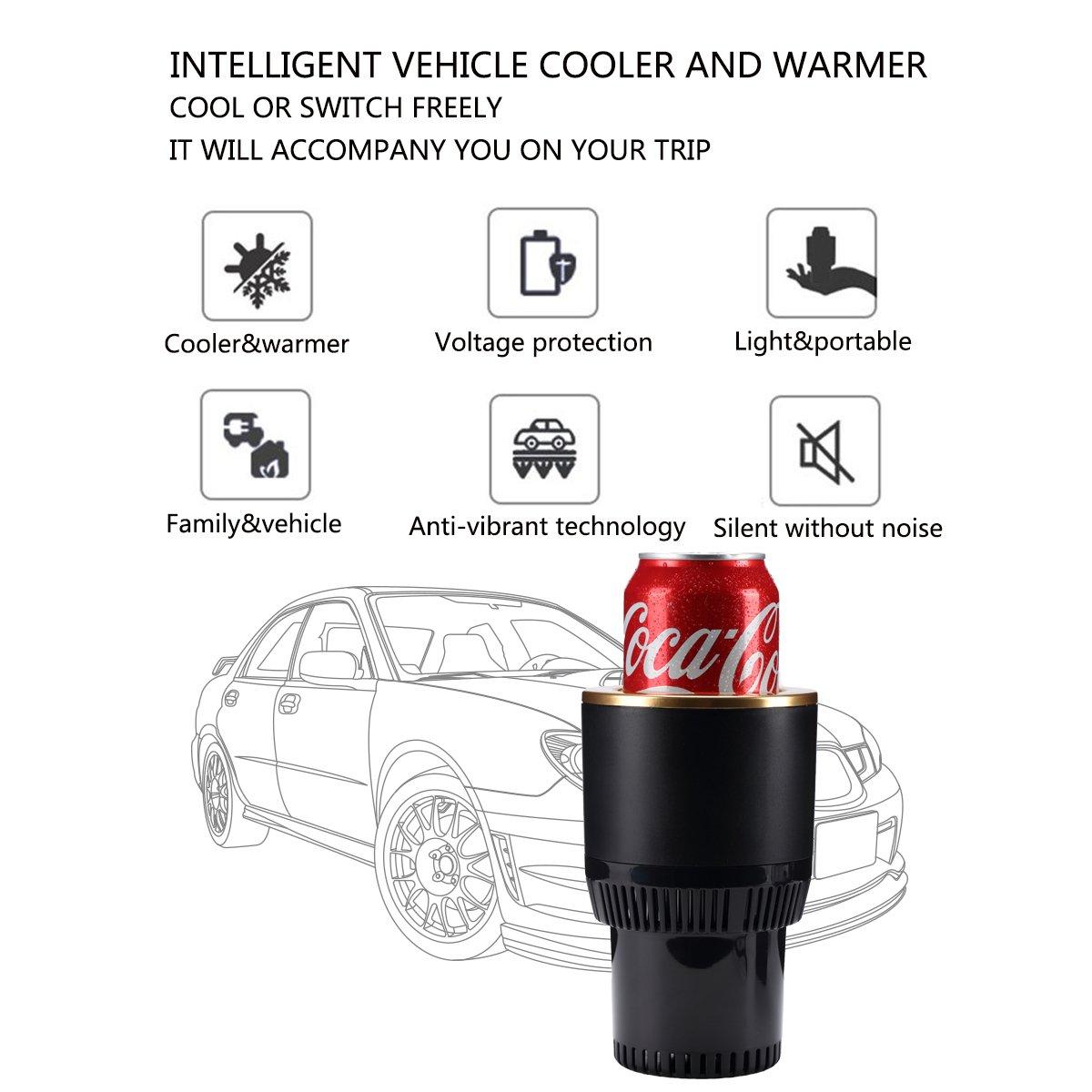 easefollow portátil Auto coche taza soporte, enfriador de latas de bebidas y calefacción, se adapta a todos los estándar martillo de latas y botellas, ...