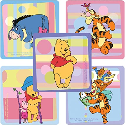 Set of 2 Sticker Packs Disney Winnie the Pooh Stickers Party Favors ~ Over 100 Reward Stickers